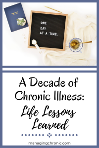 Pin for Pinterest for Decade of Chronic Illness